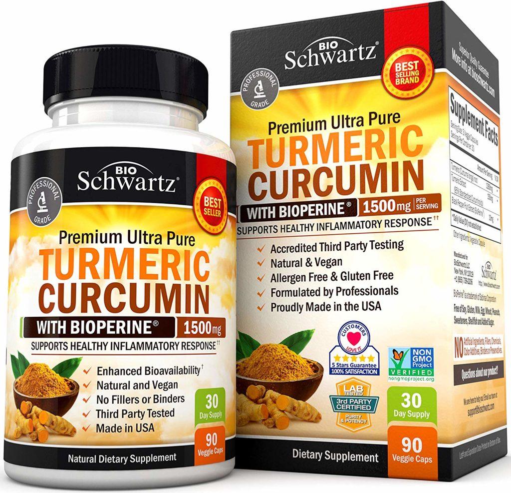 bio schwartz turmeric curcumin hair loss